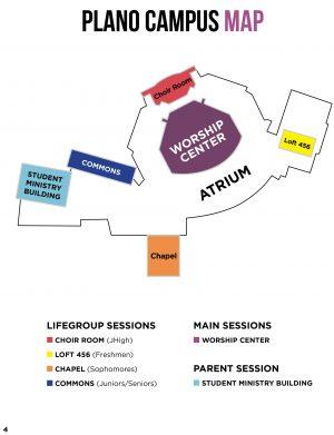 Plano Campus Map